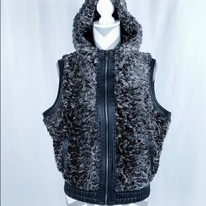 Faux fur hooded vest from YMI
